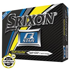 Q-STAR GOLF BALLS,Tour Yellow